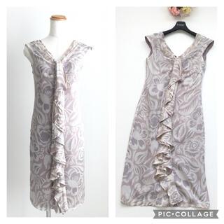 ヴァレンティノ(VALENTINO)の美品 ヴァレンティノ VALENTINO 最高級シルク ドレス ワンピース(ひざ丈ワンピース)