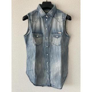 ディーゼル(DIESEL)のDIESELノースリーブシャツ ブラウス(Tシャツ(半袖/袖なし))
