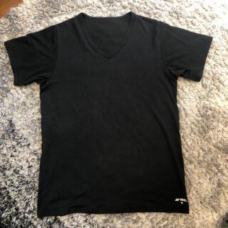 ヨネックス(YONEX)のヨネックス メンズ アンダーウェア Mサイズ 半袖肌着 ブラック Tシャツ(Tシャツ/カットソー(半袖/袖なし))