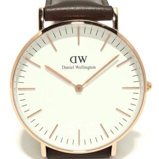 ダニエルウェリントン(Daniel Wellington)のダニエルウェリントン 腕時計美品  - 白(その他)