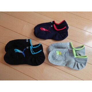 プーマ(PUMA)のプーマ PUMA キッズ靴下 3足セット(19-21cm)(靴下/タイツ)