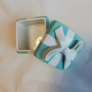 ティファニー(Tiffany & Co.)のティファニー ボウボックス ティファニーブルーボックス  ジュエリーケース 陶器(小物入れ)