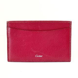 カルティエ(Cartier)のカルティエ カードケース美品  - ピンク(名刺入れ/定期入れ)