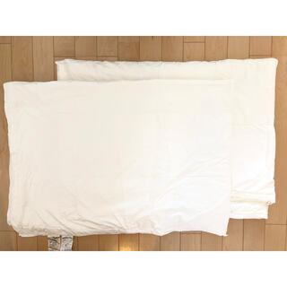 ムジルシリョウヒン(MUJI (無印良品))の無印 無印良品 掛け布団 洗える 2枚組(布団)