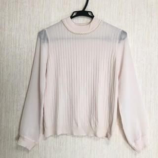 ロディスポット(LODISPOTTO)のLODISPOTTO ニット セーター 袖シフォン Mサイズ(ニット/セーター)