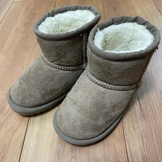 プティマイン(petit main)のpetitmain プティマイン ムートンブーツ チャコール 15cm(ブーツ)