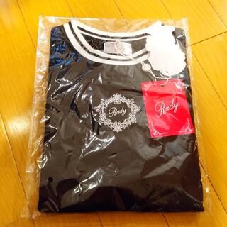 レディー(Rady)のRady ちびRady ラインリブTシャツ ブラック×ホワイト(Tシャツ/カットソー)