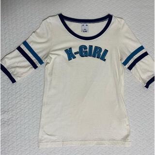 エックスガール(X-girl)の【値下】X-girl 七分袖Tシャツ(Tシャツ(長袖/七分))
