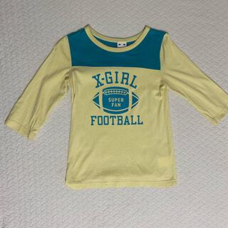エックスガール(X-girl)の【最終値下】X-girl 七分袖Tシャツ(Tシャツ(長袖/七分))