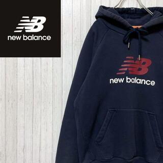 ニューバランス(New Balance)のニューバランス パーカー スウェット ネイビー ビッグロゴ マフポケット M.(パーカー)