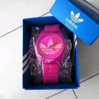 アディダス(adidas)のadidas*ピンク腕時計(腕時計)