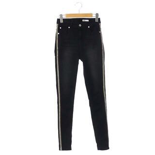 ダブルスタンダードクロージング(DOUBLE STANDARD CLOTHING)のダブルスタンダードクロージング スキニーパンツ デニム サイドライン 36 黒(デニム/ジーンズ)