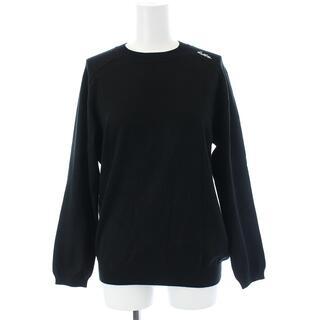 マディソンブルー(MADISONBLUE)のマディソンブルー 20AW ニット セーター 長袖 プルオーバー ロゴ S 黒(ニット/セーター)