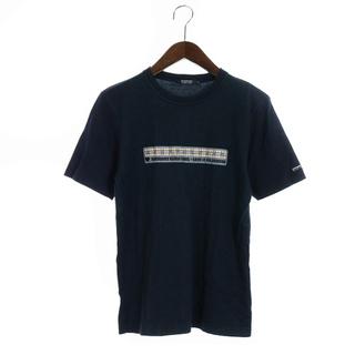 バーバリーブラックレーベル(BURBERRY BLACK LABEL)のバーバリーブラックレーベル Tシャツ カットソー 半袖 2 M 黒(Tシャツ/カットソー(半袖/袖なし))