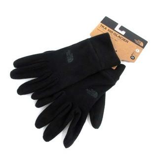 ザノースフェイス(THE NORTH FACE)のザノースフェイス フリース 手袋 ロゴ L 黒(手袋)