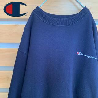 チャンピオン(Champion)のChampion スウェット トレーナー ネイビー 刺繍ロゴ ビッグシルエット(スウェット)