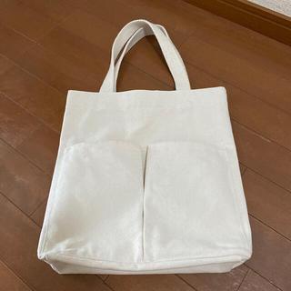 ムジルシリョウヒン(MUJI (無印良品))のインド綿帆布 縦型 マイトートバッグ 生成(トートバッグ)