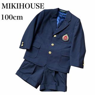 ミキハウス(mikihouse)のMIKIHOUSE フォーマル スーツ セットアップ ワッペン 入学式 入園式(ドレス/フォーマル)