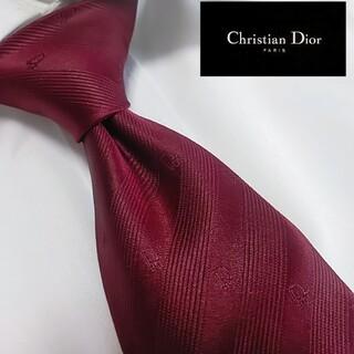 クリスチャンディオール ネクタイ ブランド ビジネス ロゴ 赤