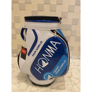 ホンマゴルフ(本間ゴルフ)の新品未使用品! ホンマHONMA ミニキャディバッグ(保冷機能付)ブルー(バッグ)