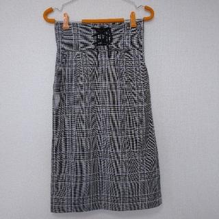 アクアガール(aquagirl)のAGbyaqagirlチェックタイトスカート(ひざ丈スカート)
