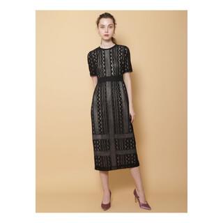 ラグナムーン(LagunaMoon)のLADYジオメトリックレースドレス(ミディアムドレス)