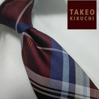 TAKEO KIKUCHI - 未使用に近い タケオキクチ ネクタイ ビジネス シルク 日本製