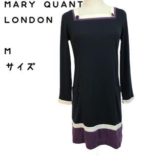 マリークワント(MARY QUANT)のマリークワント ワンピース 長袖 サイズ M(ひざ丈ワンピース)