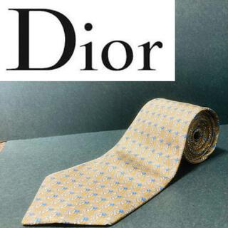 【美品】 Dior/ディオール ネクタイ ライトブラウン