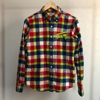 トミー(TOMMY)の古着TOMMY BIGロゴ刺繍 チェック柄ネルシャツ◇Sサイズ◇M-0252(シャツ)