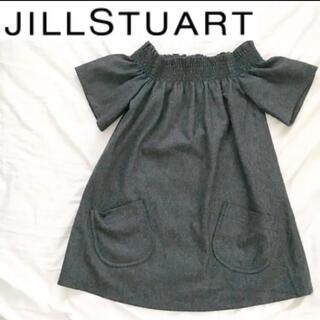 ジルスチュアート(JILLSTUART)のJILLSTUART グレー ワンピース チュニック 秋冬 ジルスチュアート S(ミニワンピース)
