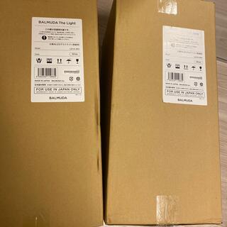 バルミューダ(BALMUDA)の2台新品未使用 BALMUDA The Light バルミューダ ザライト(白)(テーブルスタンド)