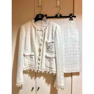 シャネル(CHANEL)のCHANEL 銀座オープン記念 ツイード ジャケットとスカート(スーツ)