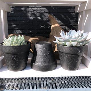 鉢 リメイク デコボコ ブラック アイアン風 鉄風 多肉 観葉植物 ガーデン(プランター)