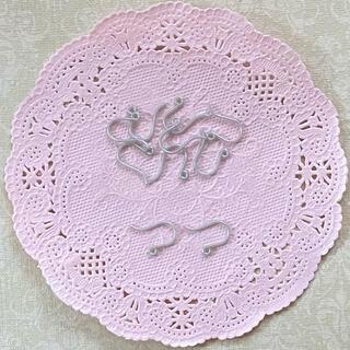 日本製♡樹脂フックピアス シルバー(各種パーツ)