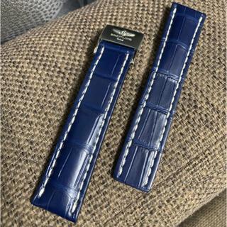 ブライトリング(BREITLING)のブライトリング Dバックル付き 青クロコ ベルト(レザーベルト)