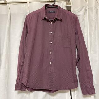 RAGEBLUE - RAGEBLUE ワインレッド ドット柄 メンズシャツ