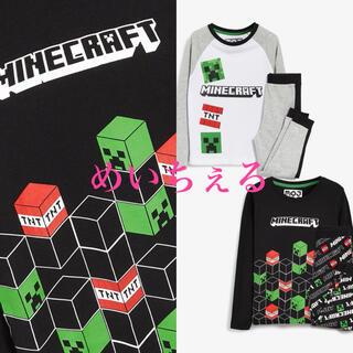 マイクロソフト(Microsoft)の【新品】モノトーン Minecraft パジャマ2枚組(ボーイズ)(パジャマ)