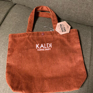 KALDI - カルディ KALDI  エコバッグ  ベロア 茶色