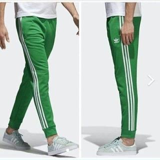 adidas - スーパースター カフ トラックパンツ Lサイズ 緑 グリーン ジャージ レア