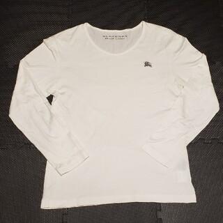 バーバリー(BURBERRY)のバーバリー 刺繍ワンポイントロゴ 長袖Tシャツ(Tシャツ/カットソー(七分/長袖))