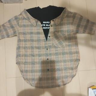repipi armario - repipiレピピ キッズ女の子140  重ね着風オーバーシャツ