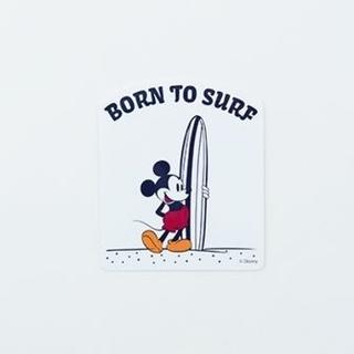 ミッキーマウス(ミッキーマウス)のSURF MICKEY ステッカー BORN TO SURF サーフミッキー(しおり/ステッカー)
