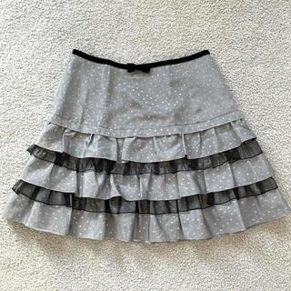 エミリーテンプルキュート(Emily Temple cute)のエミキュ ティアードスカート グレードット(ひざ丈スカート)