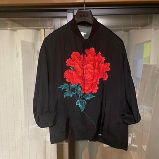 ヨウジヤマモト(Yohji Yamamoto)のyohjiyamamoto96ss 花と少年牡丹ブルゾン(ブルゾン)