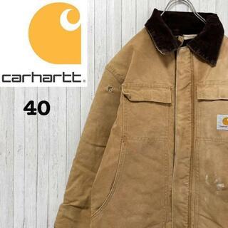 carhartt - カーハート ダックジャケット キャメル 襟コーデュロイ 中綿 アウトレット 40