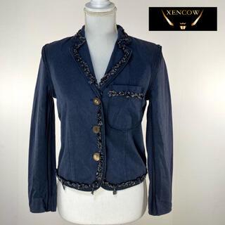 クリスチャンディオール(Christian Dior)のクリスチャンディオール テーラードジャケット ネイビー 紺 (テーラードジャケット)