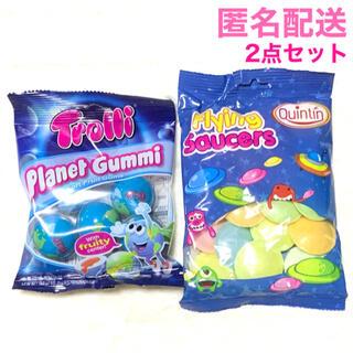 最安値 袋入り トローリ Trolli 地球グミ UFOキャンディ 2点セット(菓子/デザート)
