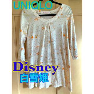ディズニー(Disney)のユニクロ 白雪姫 コラボ レディース ルームウェア ディズニー カットソー(カットソー(長袖/七分))