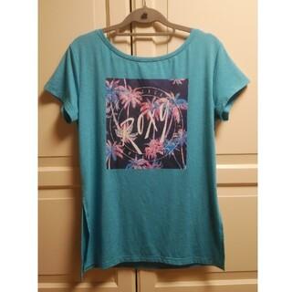 ロキシー(Roxy)のROXYヨガウェアTシャツロゴプリントブルー(ヨガ)